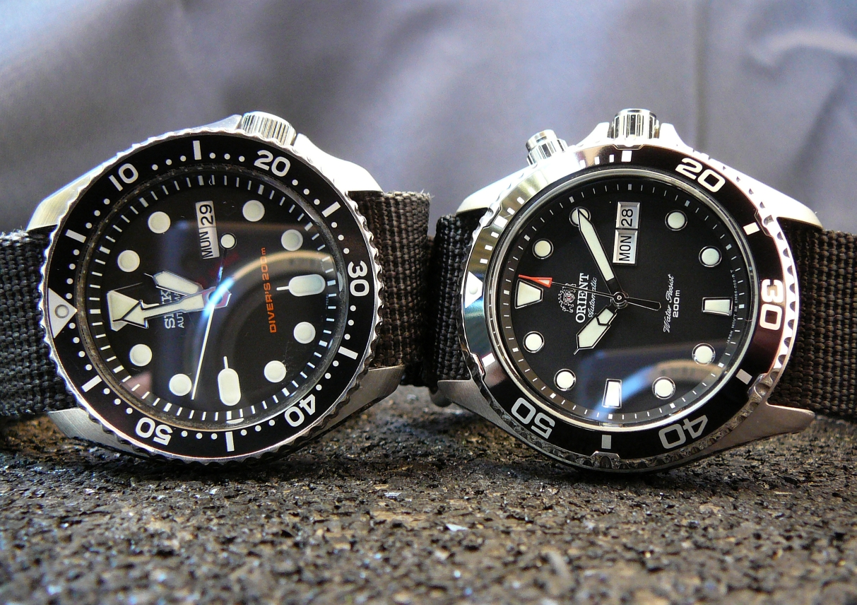 Affordable fun - Seiko SKX007 & Orient Ray side-by-side pics